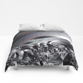 Complexity under smooth simplicity - Abstract play with focus Comforters