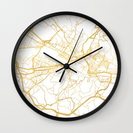 FLORENCE ITALY CITY STREET MAP ART Wall Clock