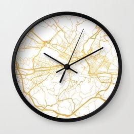 FLORENCE ITALY CITY STREET MAP ART Wall Clock