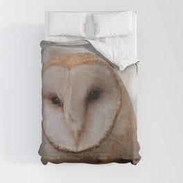Barn Owl on Alert Comforters