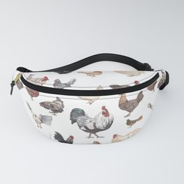 Chicken Happy (white) Fanny Pack