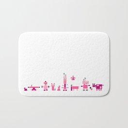 Robots-Pink Bath Mat
