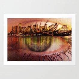 boston view Art Print