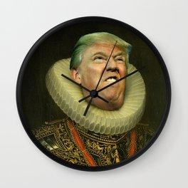 Trump painting face-swap Wall Clock