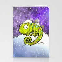 chameleon Stationery Cards featuring Chameleon by Martin Jonas