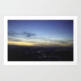 Boise Sunset Art Print