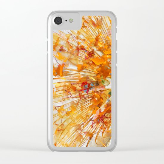 Autumn Leaf Fall Clear iPhone Case