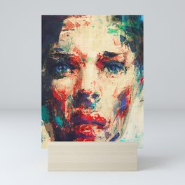 Face in Saturated Color's 3 Mini Art Print