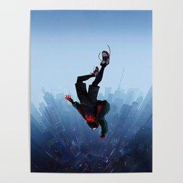 Miles Morales jump Poster
