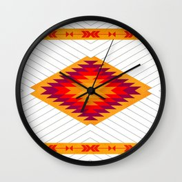 053 Traditional navajo pattern interpretation Wall Clock