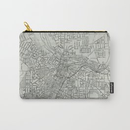 Vintage Map of Akron Ohio (1917) Carry-All Pouch