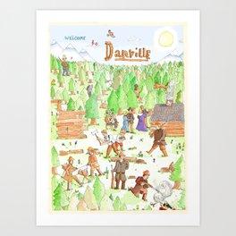 Locals Only- Danville Art Print