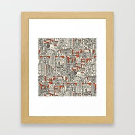 Hong Kong toile de jouy Framed Art Print