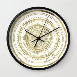 Quaking Aspen – Gold Tree Rings Wall Clock