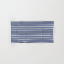 Blue Gray Stripes Hand & Bath Towel