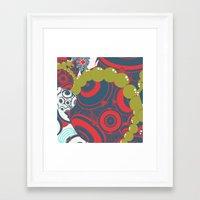 dragon ball Framed Art Prints featuring ball by echo3005