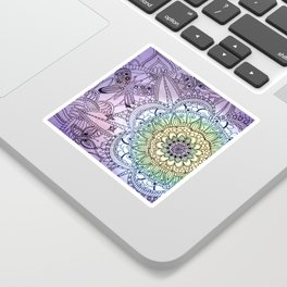 Purple Butterfly Mandala Sticker