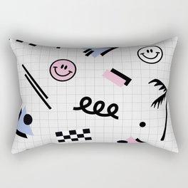 Smiley faces all day Rectangular Pillow