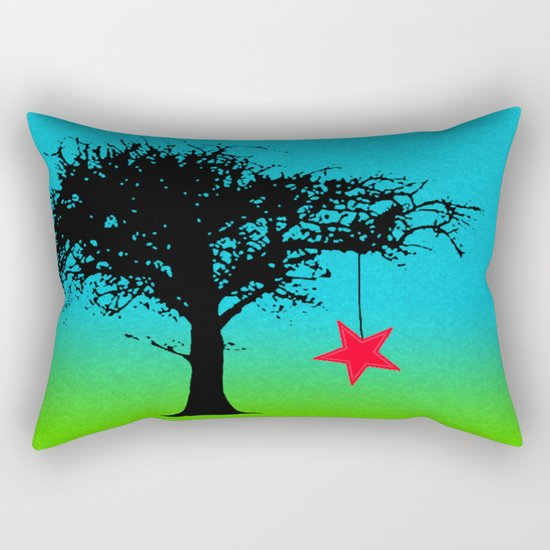 Star in the tree Rectangular Pillow