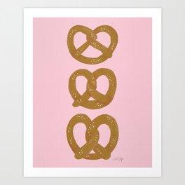 Pretzel Pattern – Blush Art Print
