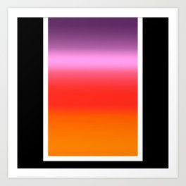 Sunset Gradient Art Print