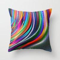 aurora Throw Pillows featuring Aurora by David  Gough