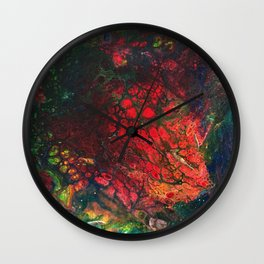 Red Center Glowing Core Wall Clock