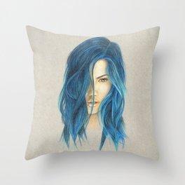 """""""Blue"""" Throw Pillow"""
