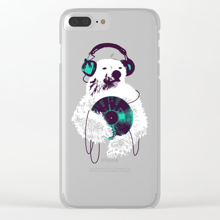 Record Bear Clear iPhone Case