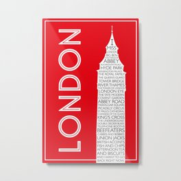 I Miss London Metal Print