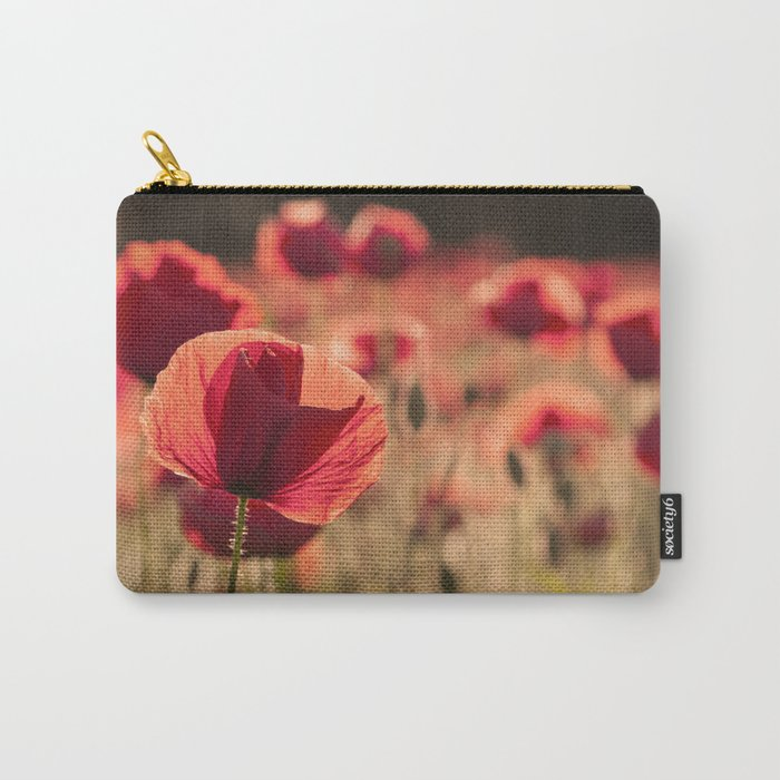 Poppies meadow Flower Flowers Floral Summer Carry-All Pouch