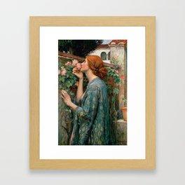 John William Waterhouse The Soul Of The Rose Framed Art Print
