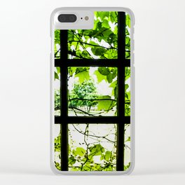 Through the Green Green Glass Clear iPhone Case