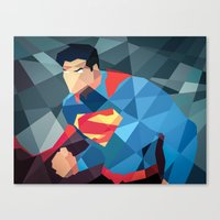 dc comics Canvas Prints featuring DC Comics Man of Steel by Eric Dufresne