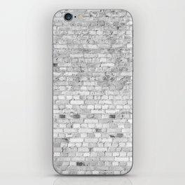 White Washed Brick Wall - Light White and Grey Wash Stone Brick iPhone Skin