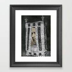 Bed Man Framed Art Print