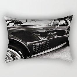 Black Chevrolet Corvette Stingray  Rectangular Pillow