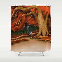 Blue Fox at The Dark Pool of Malkkaard Shower Curtain