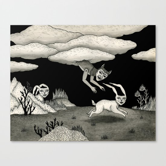 The Abduction Canvas Print