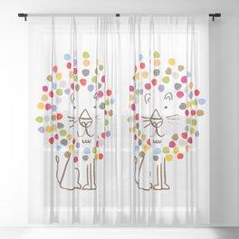 Dandy Lion Sheer Curtain