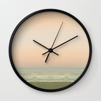 rothko Wall Clocks featuring beach after rothko by EnglishRose23