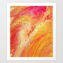 Lava Marble Art Print