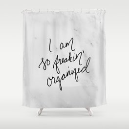 Freakin' Organized Shower Curtain