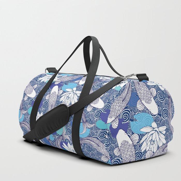 Blue Koi Ripples Duffle Bag