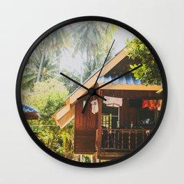 Koh Tao Beach House Wall Clock