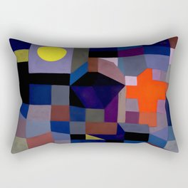 Paul Klee - Fire At Full Moon - 1933 Artwork Reproduction Rectangular Pillow