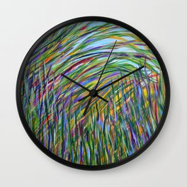 Tropical Green Abstract, Seagrass Color Study, Contemporary Colorful Home Decor Wall Clock
