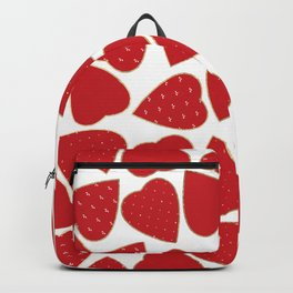 Romantic red white gold floral valentine hearts Backpack