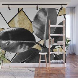 Ficus Elastica Geo #2 #tropical #foliage #decor #art #society6 Wall Mural