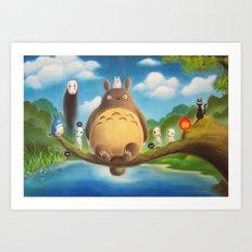 Ghibli Compilation  Art Print